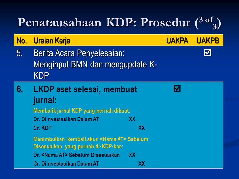 Penatausahaan KDP: Prosedur (3 of3)
