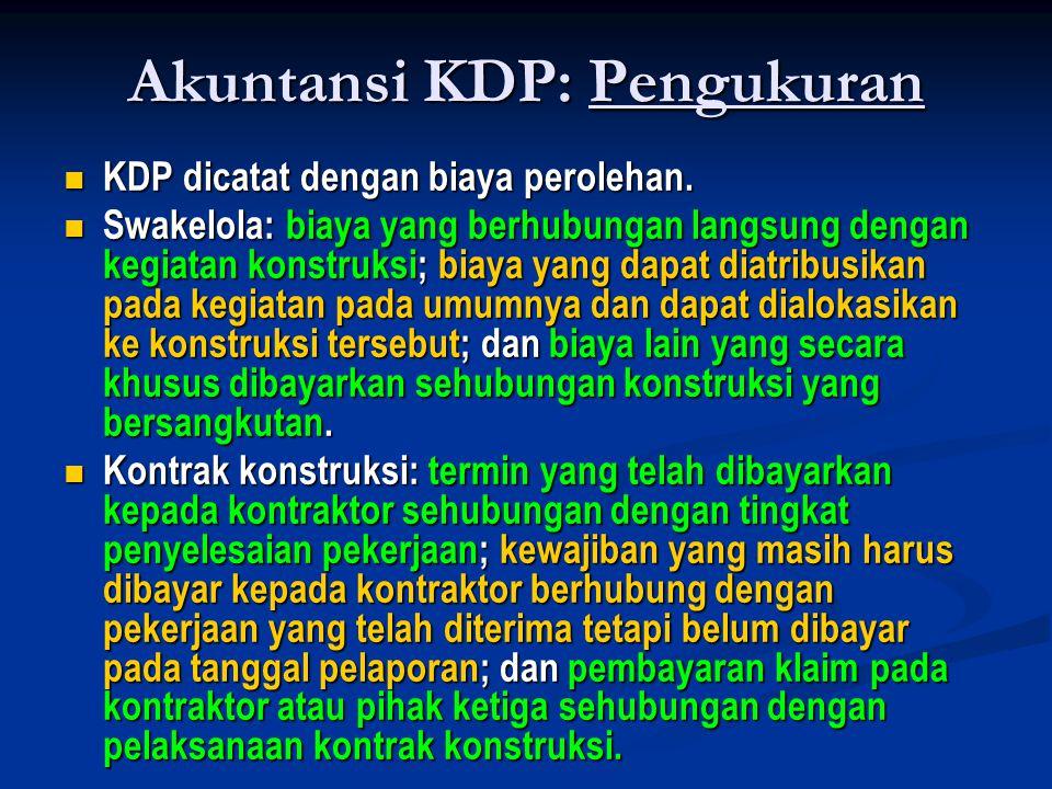 Akuntansi KDP: Pengukuran