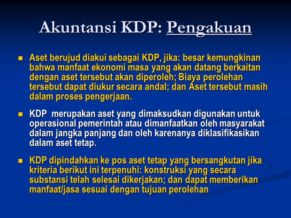 Akuntansi KDP: Pengakuan
