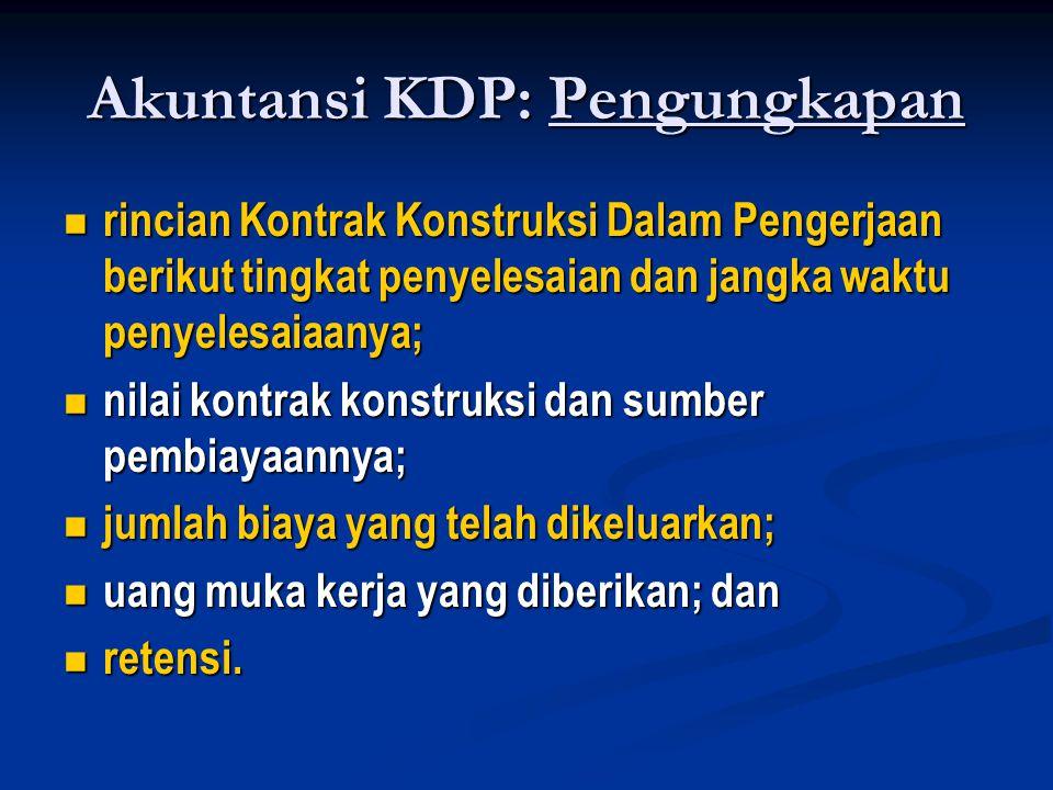 Akuntansi KDP: Pengungkapan