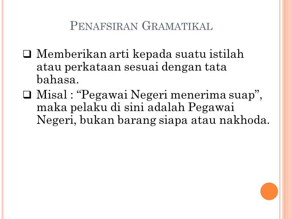 Penafsiran Gramatikal