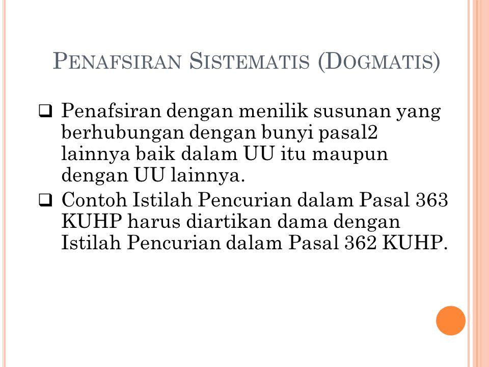 Penafsiran Sistematis (Dogmatis)