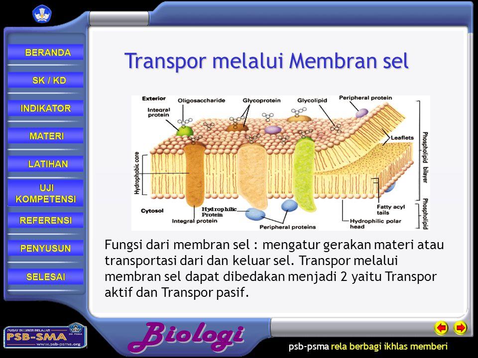 Transpor melalui Membran sel