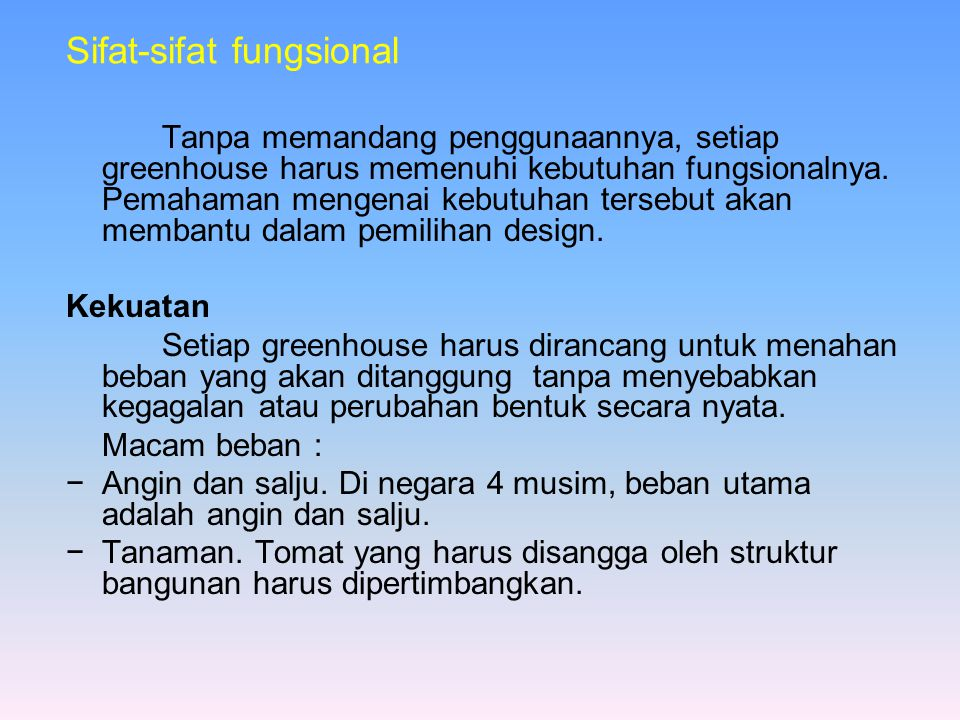 Sifat-sifat fungsional
