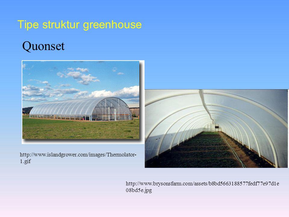 Tipe struktur greenhouse