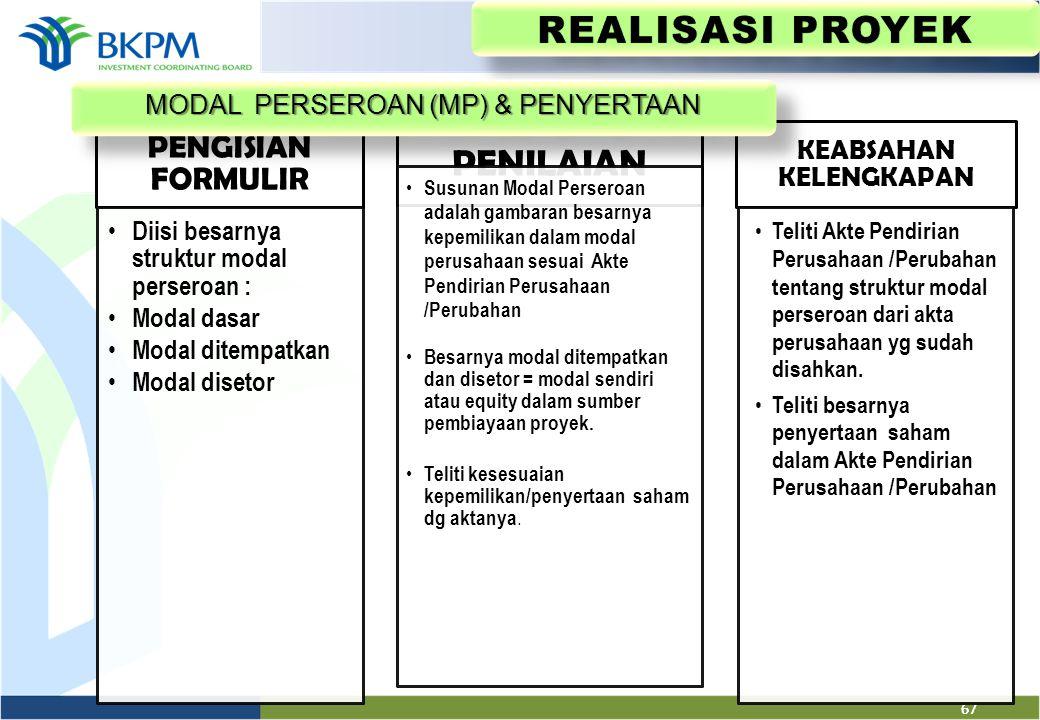 REALISASI PROYEK PENILAIAN PENGISIAN FORMULIR