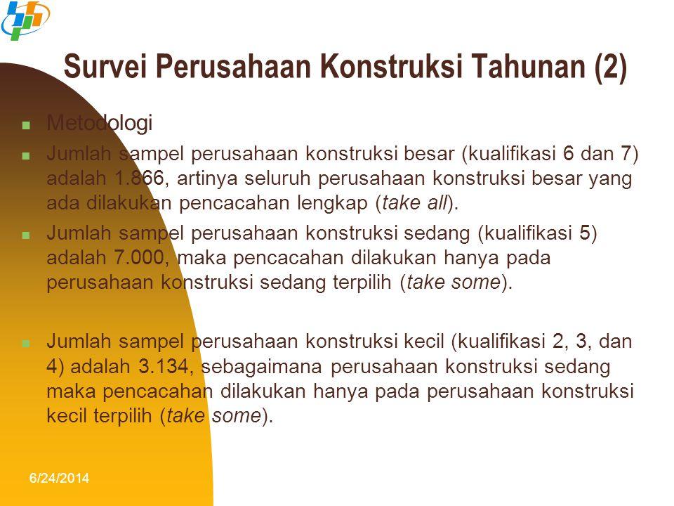 Survei Perusahaan Konstruksi Tahunan (2)