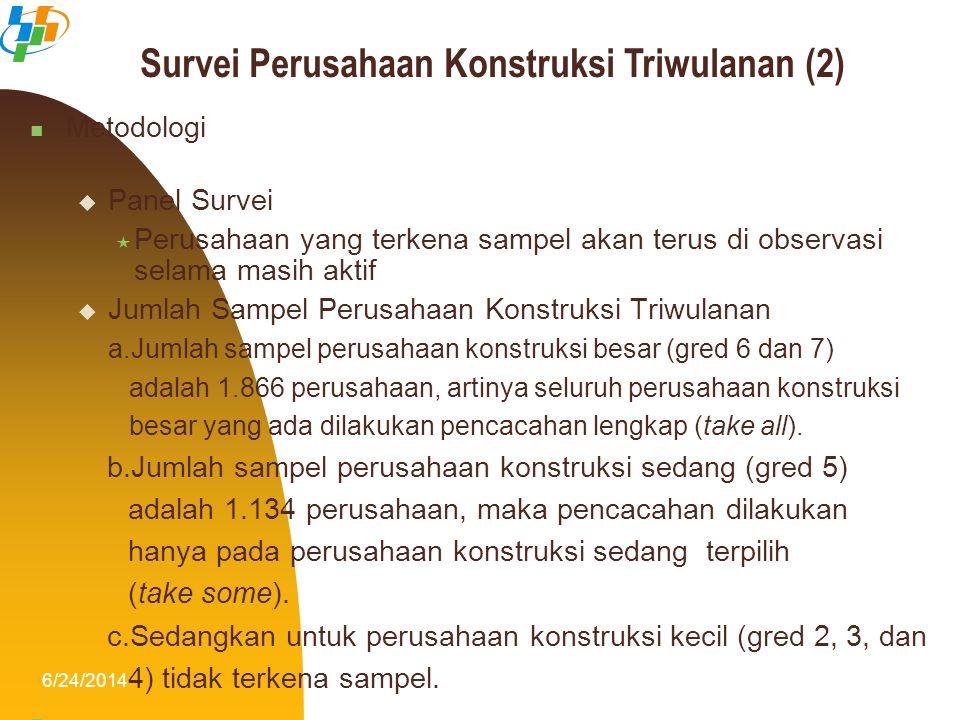 Survei Perusahaan Konstruksi Triwulanan (2)