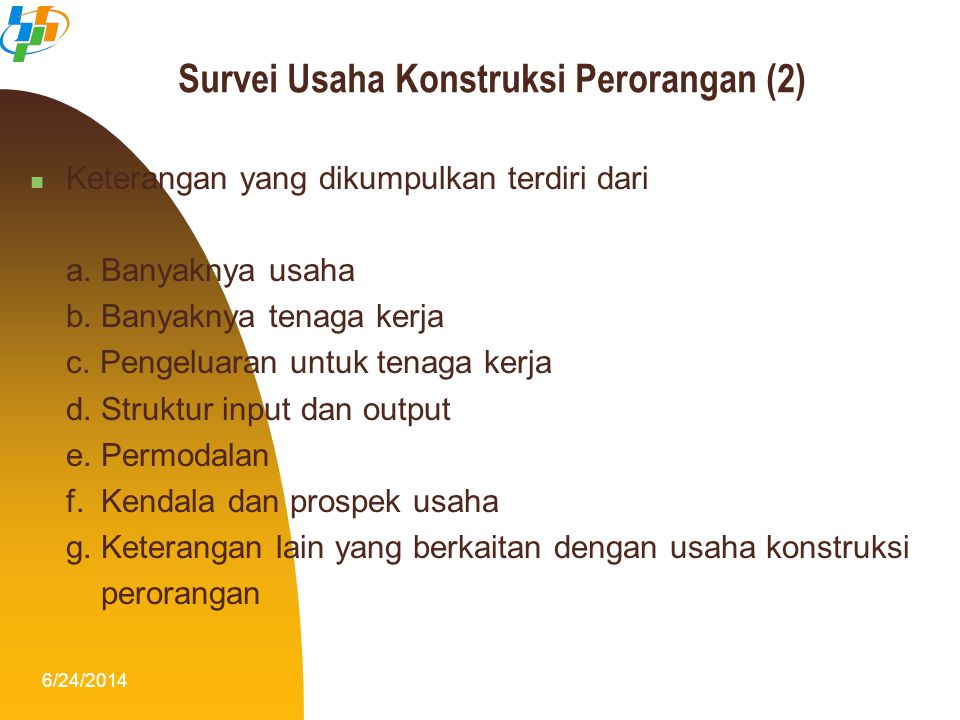 Survei Usaha Konstruksi Perorangan (2)