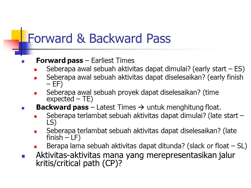 Forward & Backward Pass