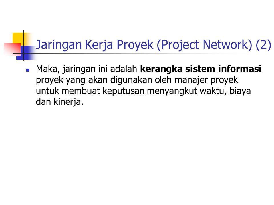 Jaringan Kerja Proyek (Project Network) (2)