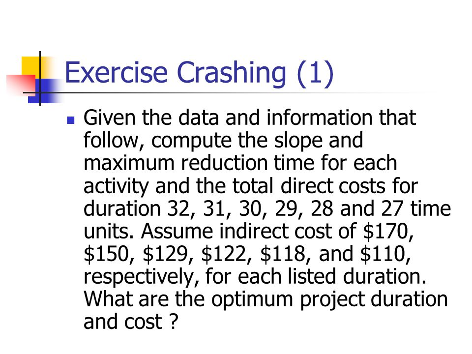 Exercise Crashing (1)