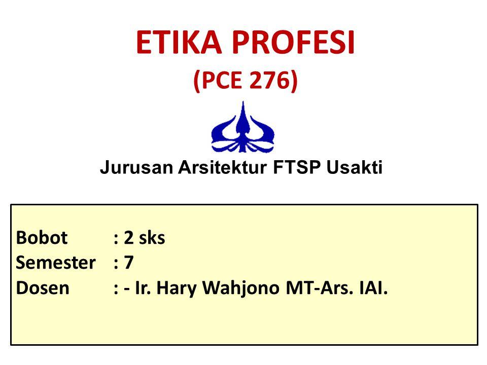 Jurusan Arsitektur FTSP Usakti