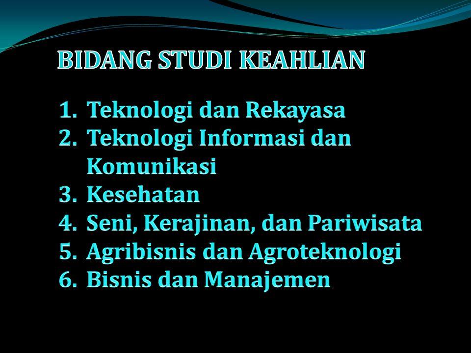BIDANG STUDI KEAHLIAN Teknologi dan Rekayasa