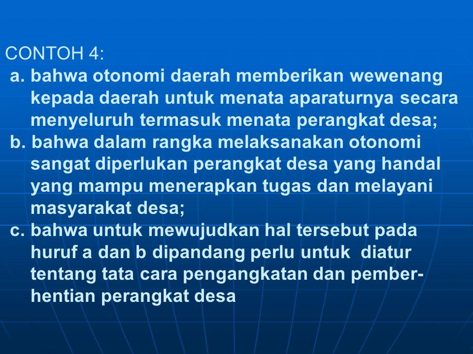 CONTOH 4: a.
