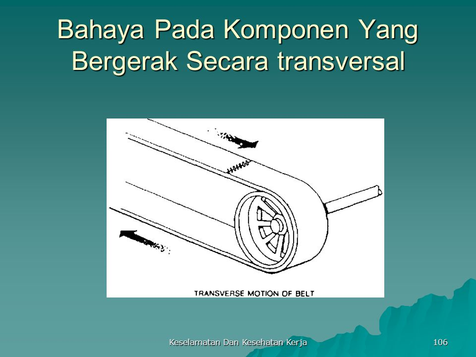 Bahaya Pada Komponen Yang Bergerak Secara transversal