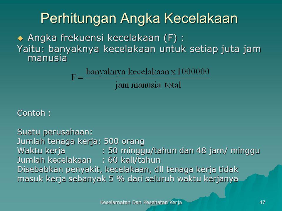 Perhitungan Angka Kecelakaan