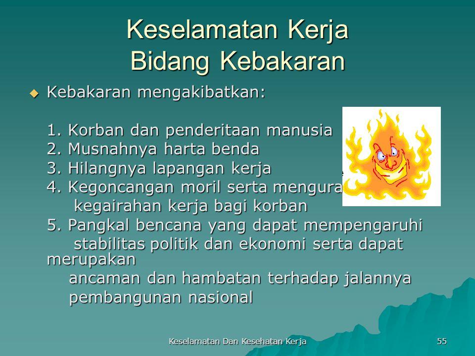 Keselamatan Kerja Bidang Kebakaran
