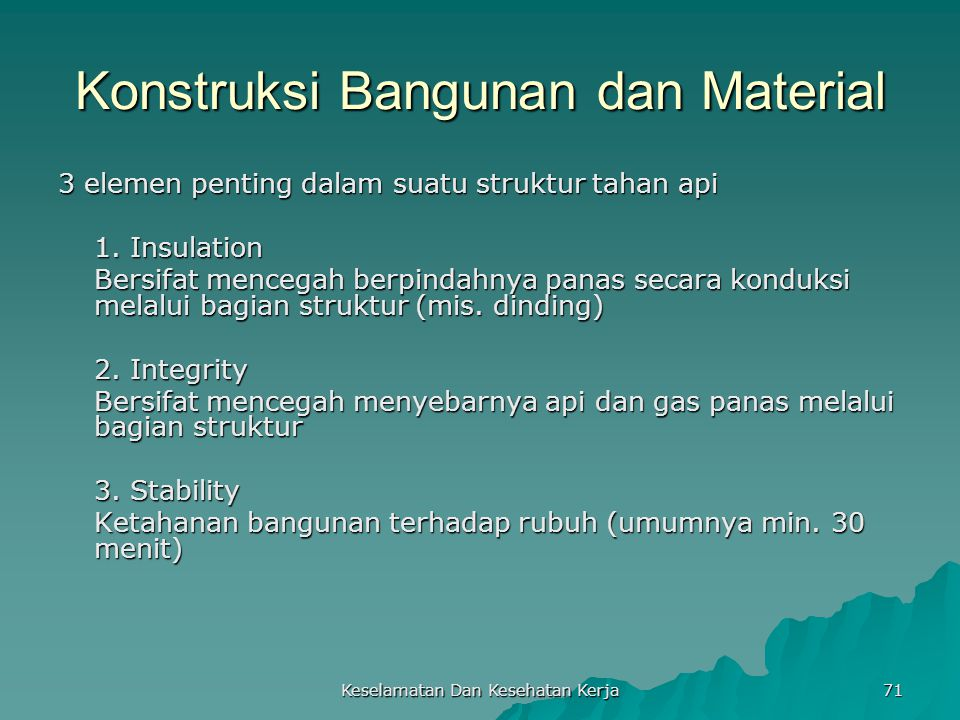 Konstruksi Bangunan dan Material