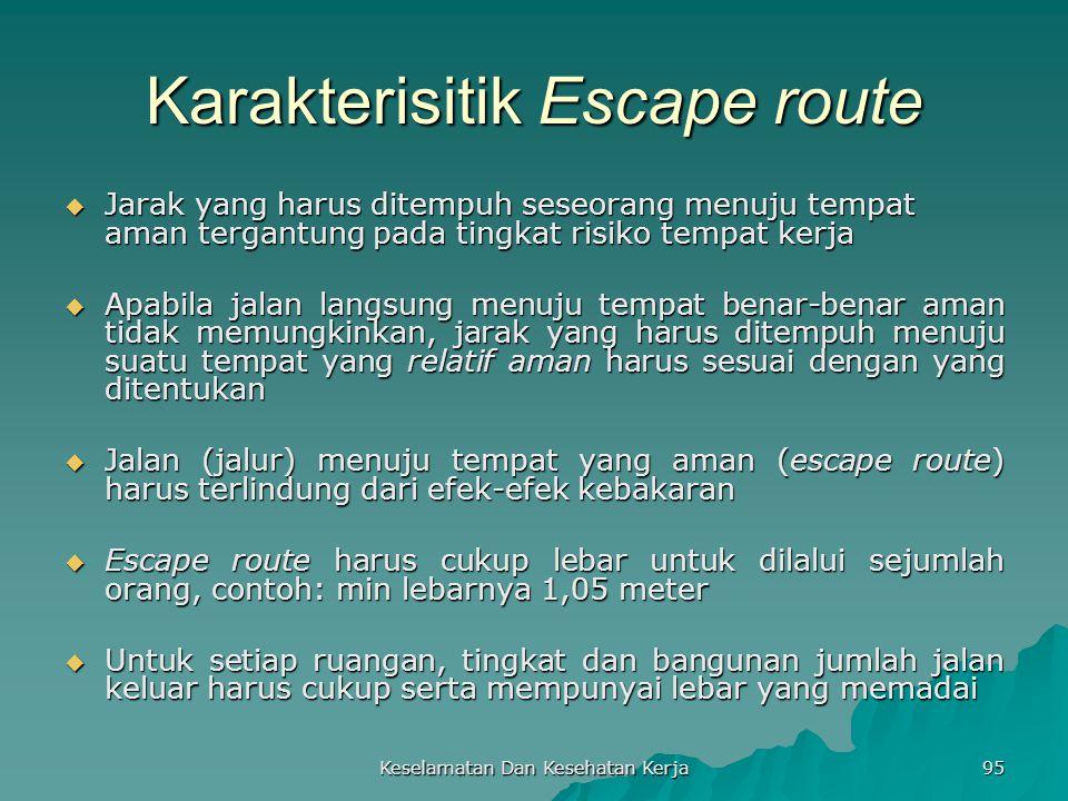 Karakterisitik Escape route