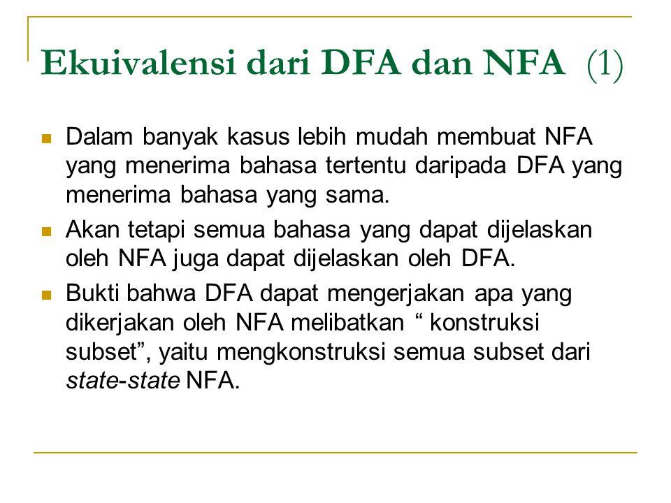 Ekuivalensi dari DFA dan NFA (1)