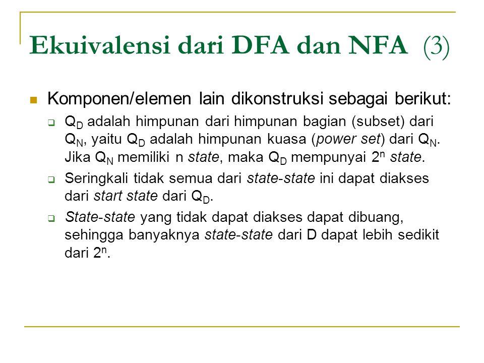 Ekuivalensi dari DFA dan NFA (3)