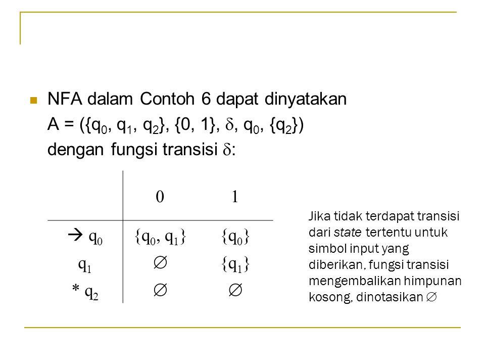 NFA dalam Contoh 6 dapat dinyatakan