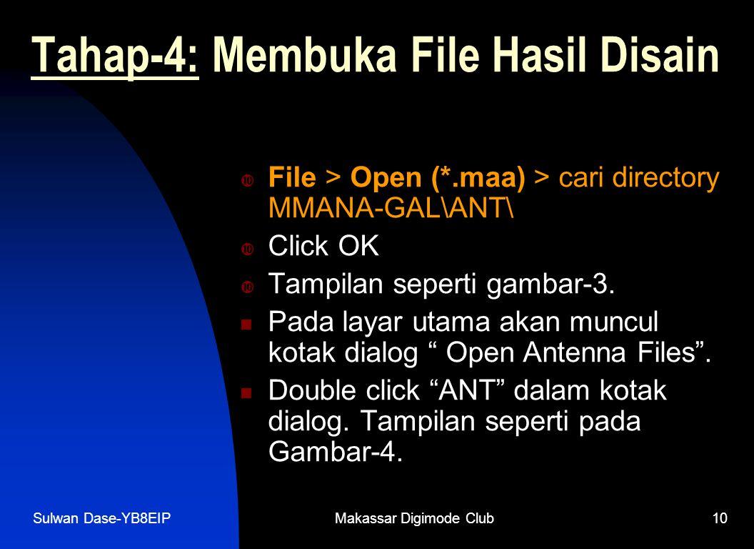 Tahap-4: Membuka File Hasil Disain