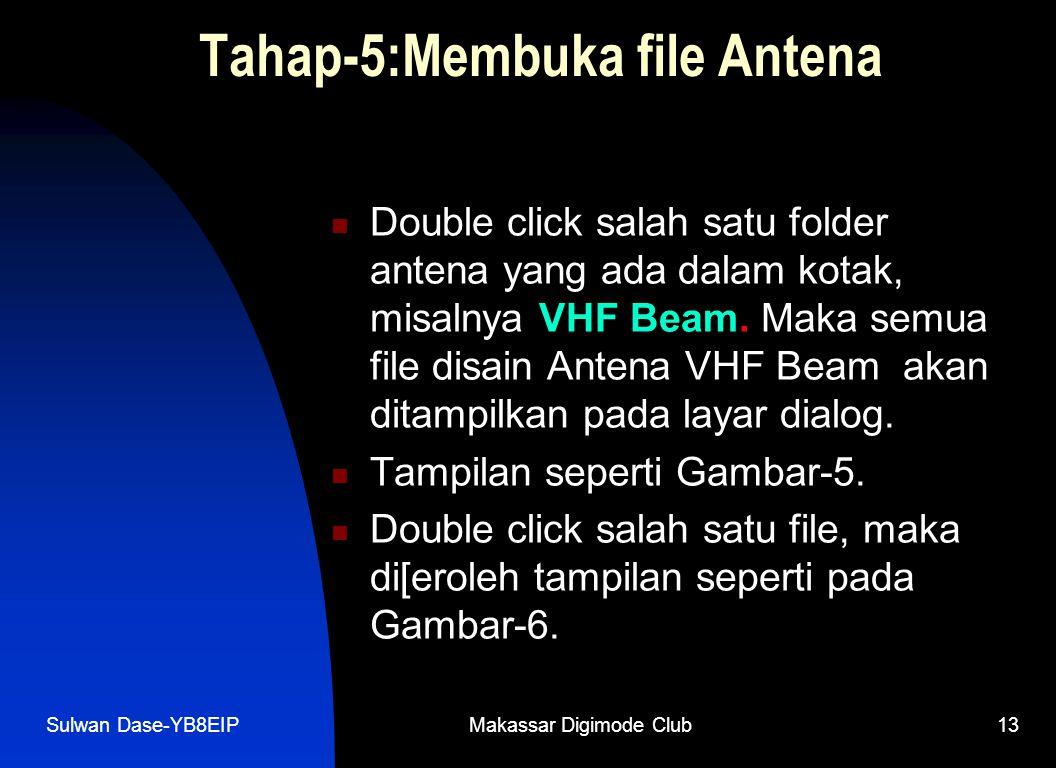 Tahap-5:Membuka file Antena