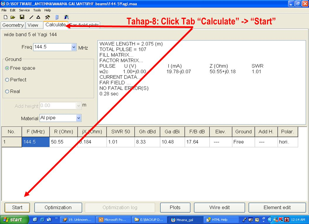 Tahap-8: Click Tab Calculate -> Start