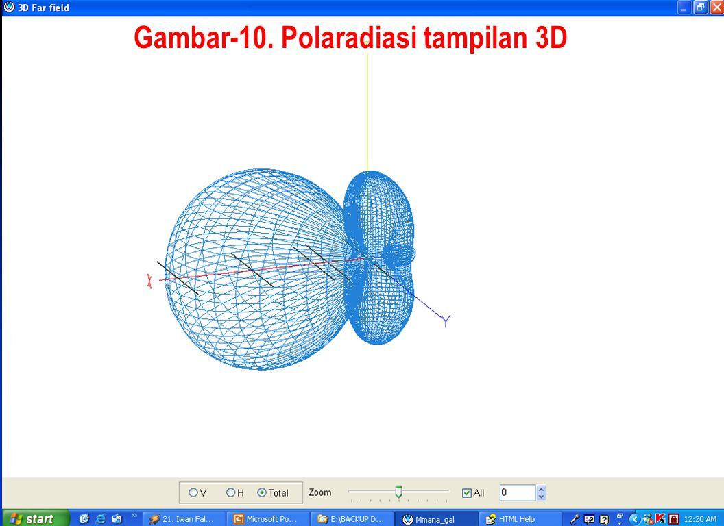 Gambar-10. Polaradiasi tampilan 3D