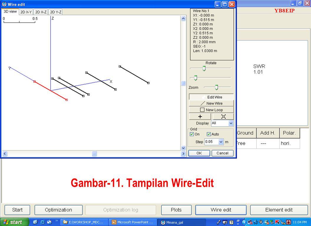 Gambar-11. Tampilan Wire-Edit