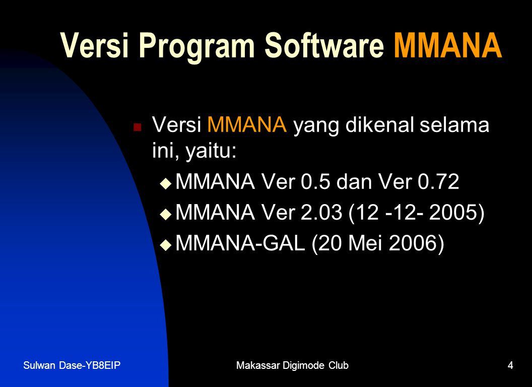 Versi Program Software MMANA
