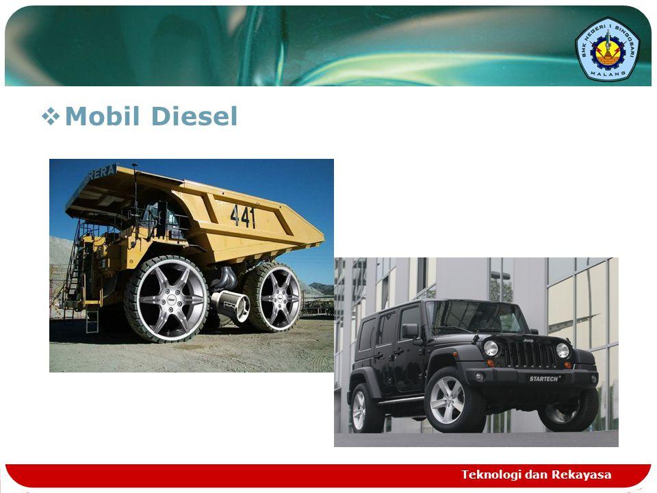 Mobil Diesel Teknologi dan Rekayasa