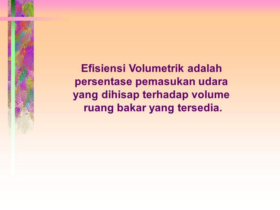 Efisiensi Volumetrik adalah persentase pemasukan udara