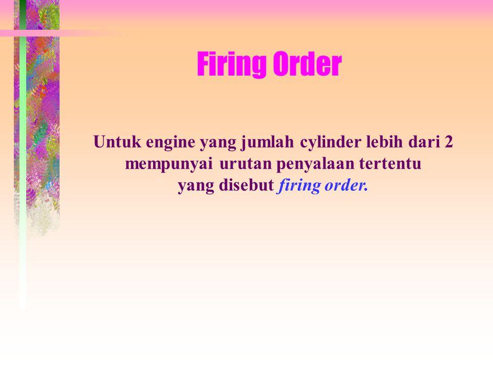 Firing Order Untuk engine yang jumlah cylinder lebih dari 2