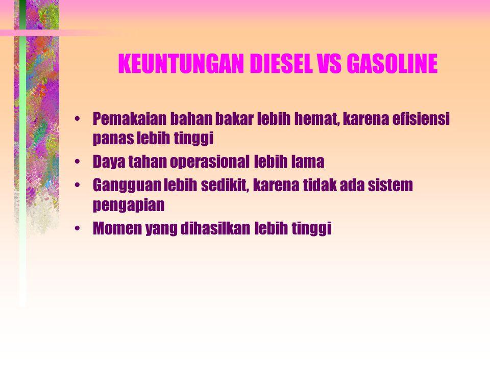KEUNTUNGAN DIESEL VS GASOLINE