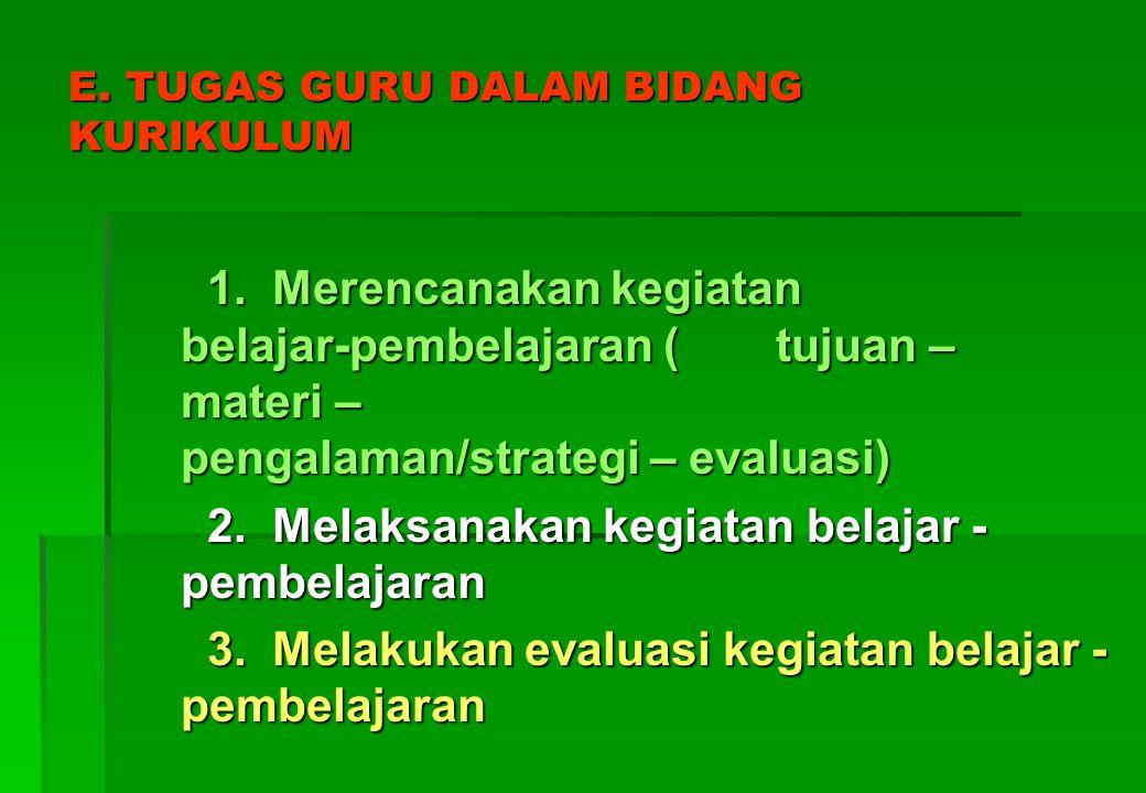 E. TUGAS GURU DALAM BIDANG KURIKULUM