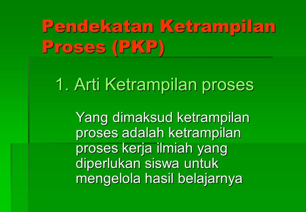 Pendekatan Ketrampilan Proses (PKP)
