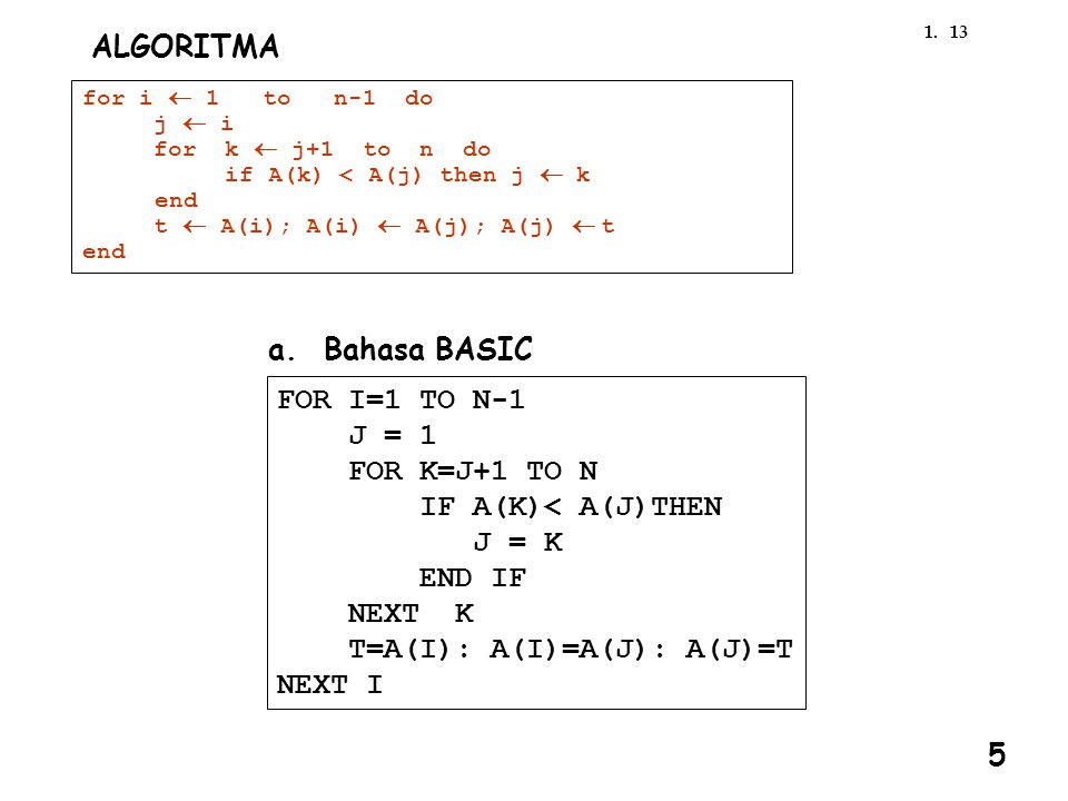 T=A(I): A(I)=A(J): A(J)=T NEXT I