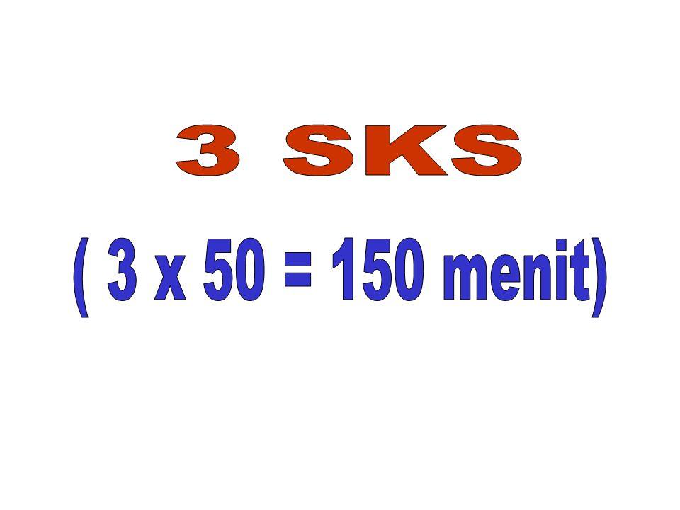 3 SKS ( 3 x 50 = 150 menit)