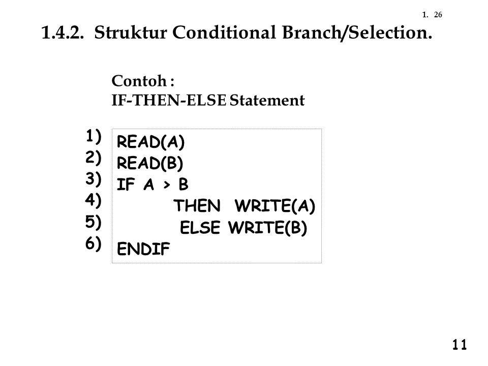 1.4.2. Struktur Conditional Branch/Selection.