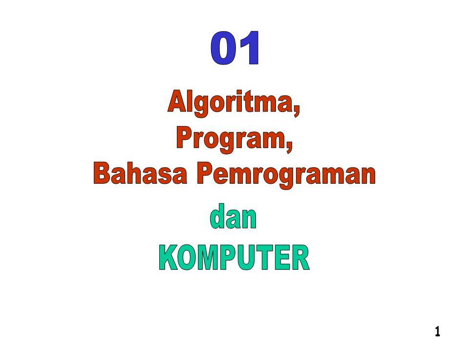 01 Algoritma, Program, Bahasa Pemrograman dan KOMPUTER