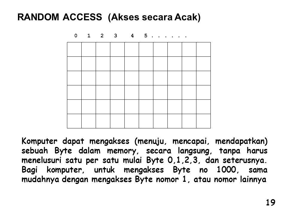 RANDOM ACCESS (Akses secara Acak)