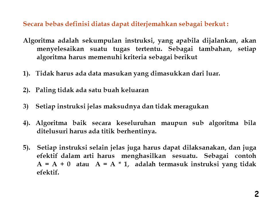 2 Secara bebas definisi diatas dapat diterjemahkan sebagai berkut :