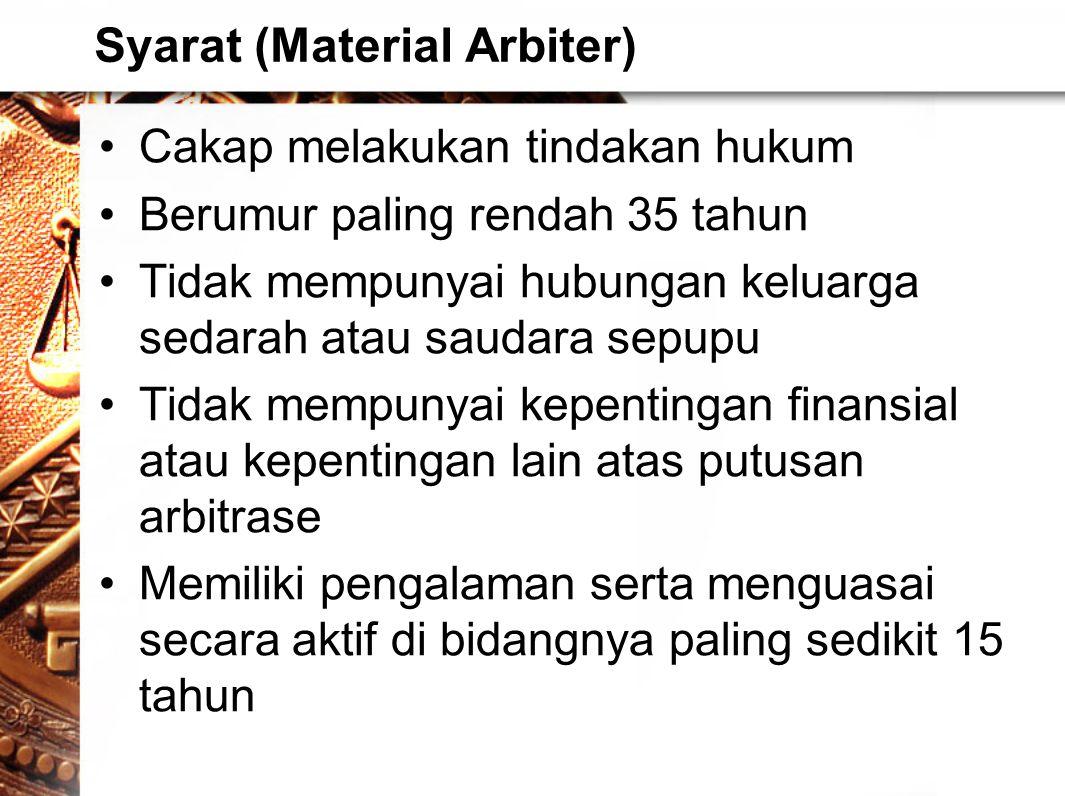Syarat (Material Arbiter)