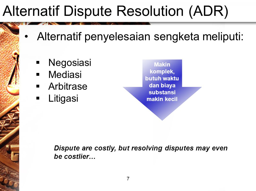 Alternatif Dispute Resolution (ADR)