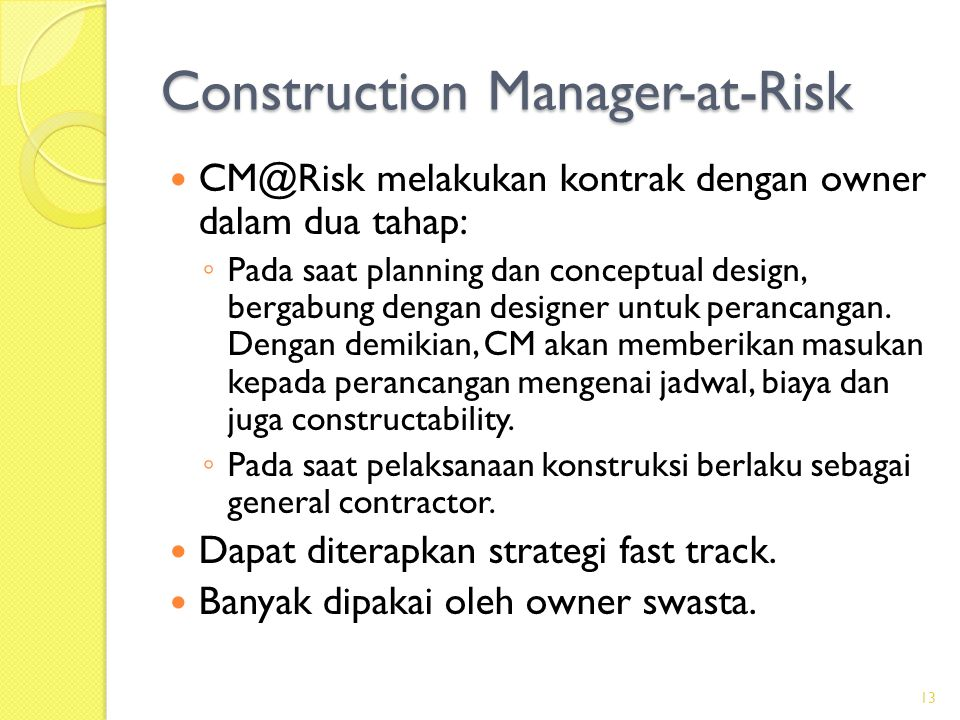 Construction Manager-at-Risk