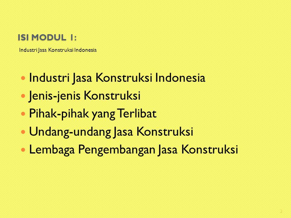 Industri Jasa Konstruksi Indonesia Jenis-jenis Konstruksi