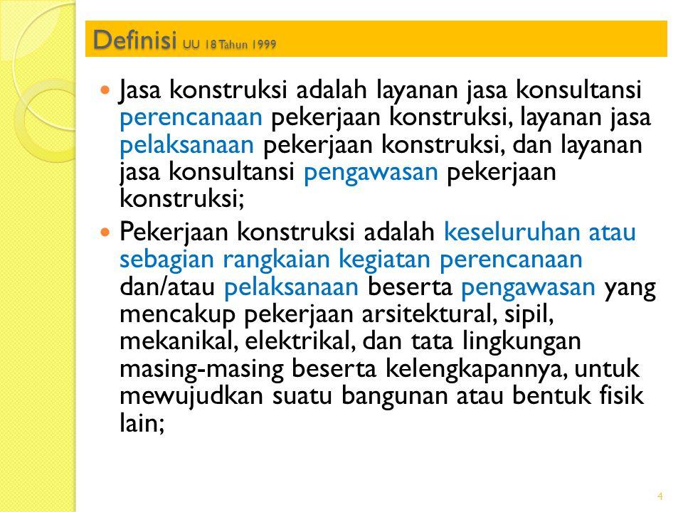 Definisi UU 18 Tahun 1999